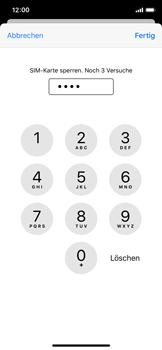 Apple iPhone X - iOS 13 - Startanleitung - So aktivieren Sie eine SIM-PIN - Schritt 7