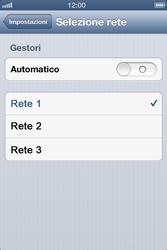 Apple iPhone 4 - Rete - Selezione manuale della rete - Fase 8