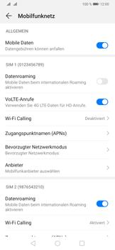 Huawei P30 - Internet und Datenroaming - Prüfen, ob Datenkonnektivität aktiviert ist - Schritt 6