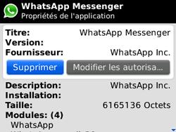 BlackBerry curve 3G - Applications - Supprimer une application - Étape 6