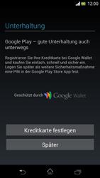 Sony Xperia V - Apps - Einrichten des App Stores - Schritt 23