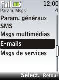 Nokia 2720 fold - E-mail - Configuration manuelle - Étape 5