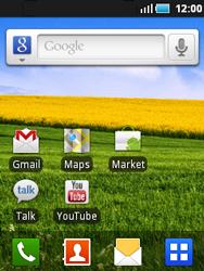 Samsung S5570 Galaxy Mini - WiFi - Conectarse a una red WiFi - Paso 1