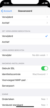 Apple iphone-11-pro-model-a2215 - E-mail - Account instellen (IMAP zonder SMTP-verificatie) - Stap 24