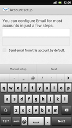 Sony Xperia S - E-mail - Manual configuration - Step 6