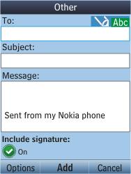 Nokia C2-05 - E-mail - Sending emails - Step 6