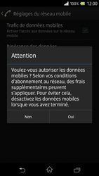 Sony Xperia Z - Internet et roaming de données - Comment vérifier que la connexion des données est activée - Étape 6