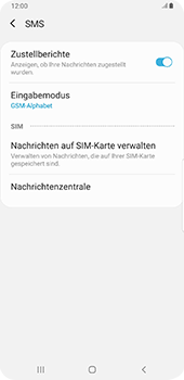 Samsung Galaxy S9 Plus - Android Pie - SMS - Manuelle Konfiguration - Schritt 8