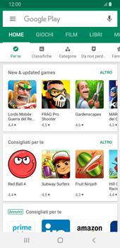 Samsung Galaxy S9 - Android Pie - Applicazioni - Come verificare la disponibilità di aggiornamenti per l