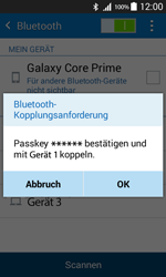 Samsung Galaxy Core Prime - Bluetooth - Geräte koppeln - 0 / 0