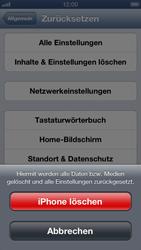 Apple iPhone 5 - Gerät - Zurücksetzen auf die Werkseinstellungen - Schritt 7