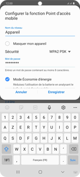 Samsung Galaxy S20+ - Internet et connexion - Partager votre connexion en Wi-Fi - Étape 9