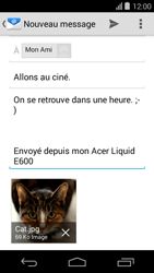 Acer Liquid E600 - E-mail - envoi d