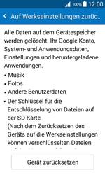 Samsung G360F Galaxy Core Prime - Fehlerbehebung - Handy zurücksetzen - Schritt 8