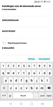 LG Q7 - E-mail - Account instellen (IMAP zonder SMTP-verificatie) - Stap 11