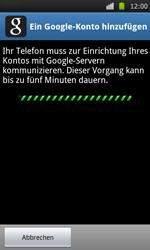Samsung Galaxy S - Apps - Konto anlegen und einrichten - 8 / 21