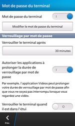 BlackBerry Z10 - Sécuriser votre mobile - Activer le code de verrouillage - Étape 8