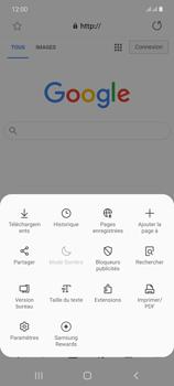 Samsung Galaxy Note20 - Internet et connexion - Naviguer sur internet - Étape 9