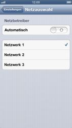 Apple iPhone 5 - Netzwerk - Manuelle Netzwerkwahl - Schritt 6