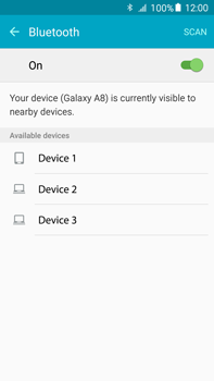 Samsung Galaxy A8 - Bluetooth - Connecting devices - Step 6