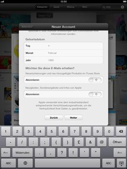 Apple iPad Retina - Apps - Einrichten des App Stores - Schritt 18