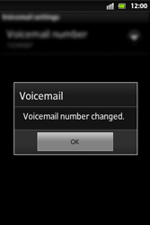 Sony ST27i Xperia Go - Voicemail - Manual configuration - Step 8