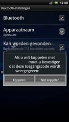 Sony Ericsson LT15i Xperia Arc - Bluetooth - headset, carkit verbinding - Stap 8