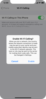 Apple iPhone X - iOS 12 - WiFi - Enable WiFi Calling - Step 7