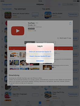 Apple ipad-pro-9-7-inch-met-ios10-model-a1674 - Applicaties - Account aanmaken - Stap 7