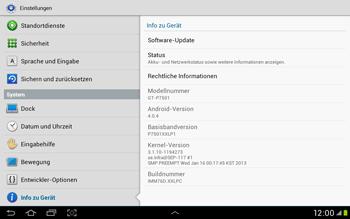 Samsung Galaxy Tab 2 10.1 - Software - Installieren von Software-Updates - Schritt 6