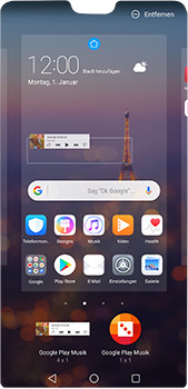Huawei P20 Pro - Startanleitung - Installieren von Widgets und Apps auf der Startseite - Schritt 8