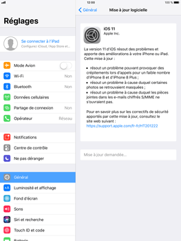 Apple iPad Air 2 - iOS 11 - Appareil - Mises à jour - Étape 6