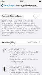 Apple iPhone SE met iOS 10 (Model A1723) - WiFi - Mobiele hotspot instellen - Stap 6