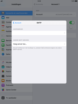 Apple iPad 9.7 - iOS 11 - E-mail - Account instellen (IMAP zonder SMTP-verificatie) - Stap 22