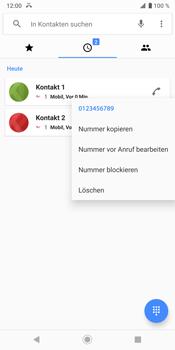 Sony Xperia XZ3 - Anrufe - Anrufe blockieren - Schritt 5