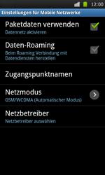 Samsung I9000 Galaxy S - Ausland - Im Ausland surfen – Datenroaming - Schritt 8