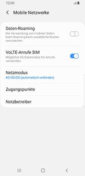 Samsung Galaxy S9 - Android Pie - Netzwerk - Netzwerkeinstellungen ändern - Schritt 6
