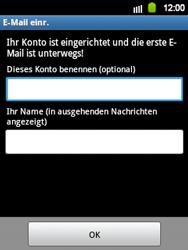 Samsung Galaxy Y - E-Mail - Manuelle Konfiguration - Schritt 16