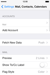 Apple iPhone 4S iOS 7 - E-mail - Manual configuration - Step 28