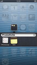 Apple iPhone 5 - Operazioni iniziali - Personalizzazione della schermata iniziale - Fase 4