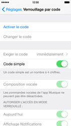 Apple iPhone 5 (iOS 8) - Sécuriser votre mobile - Activer le code de verrouillage - Étape 4