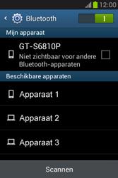 Samsung S6810P Galaxy Fame - bluetooth - headset, carkit verbinding - stap 6