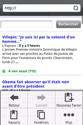 HTC A6262 Hero - Internet - Navigation sur Internet - Étape 10
