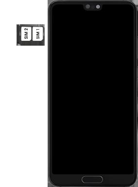 Huawei P20 - Android Pie - SIM-Karte - Einlegen - Schritt 6