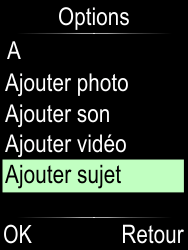 Doro Phone Easy 612 - Contact, Appels, SMS/MMS - Envoyer un MMS - Étape 6