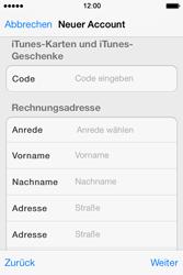 Apple iPhone 4 S mit iOS 7 - Apps - Konto anlegen und einrichten - Schritt 30