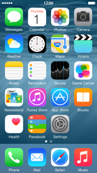Apple iPhone 5s - iOS 8 - Internet - Example mobile sites - Step 1
