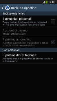 Samsung Galaxy Note III LTE - Dispositivo - Ripristino delle impostazioni originali - Fase 7