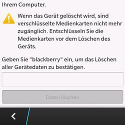 BlackBerry Q10 - Gerät - Zurücksetzen auf die Werkseinstellungen - Schritt 7