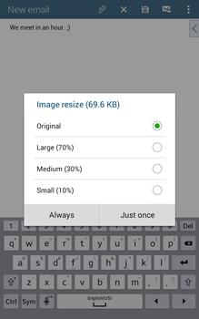 Samsung T335 Galaxy Tab 4 8-0 - E-mail - Sending emails - Step 17